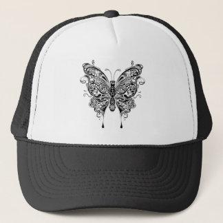 Black & White Butterfly-Tattoo Style Trucker Hat