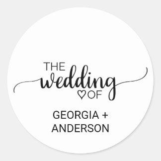 Black & White Calligraphy Wedding Envelope Seal