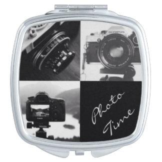 Black & White Cameras Photography typography Vanity Mirror