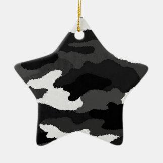 Black White Camo Christmas Ornament