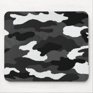 Black & White Camo Mouse Pad