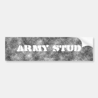 Black & White  Camouflage Army Stud Bumper Sticker