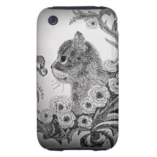 Black & White Cat iPhone 3G/3Gs Case Tough iPhone 3 Case
