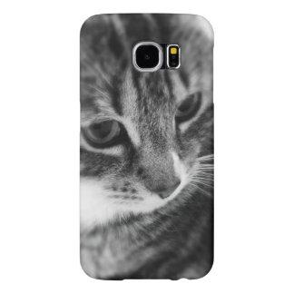 Black White Cat Samsung Galaxy S6 Cases