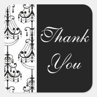 Black & White Chandelier Elegant Wedding Sticker