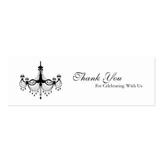 Black & White Chandelier Favour Tag Business Card Templates
