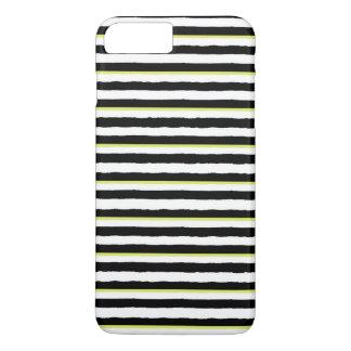 Black White Chartreuse Striped iPhone 7 PLUS Case