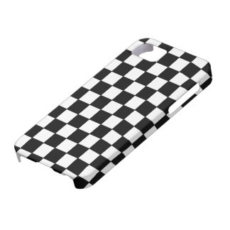 Black White Checked - iPhone 5 Case