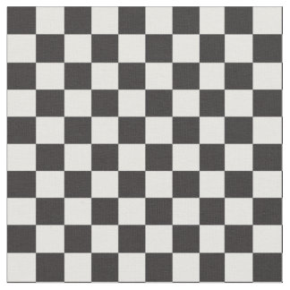 Black & White Checker Pattern Fabric