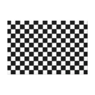 Black & White Checkerboard Pattern Gallery Wrapped Canvas