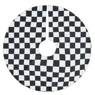Black & White Checkered - Christmas Tree Skirt