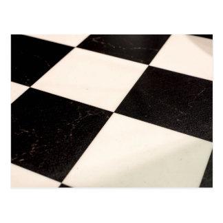 Black & White Checkered Floor Postcard
