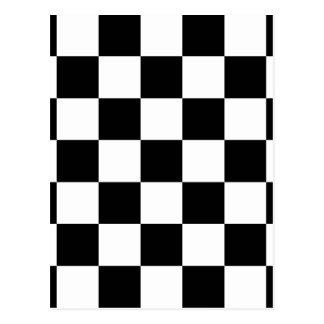 Black & White Checkered Pattern Postcard