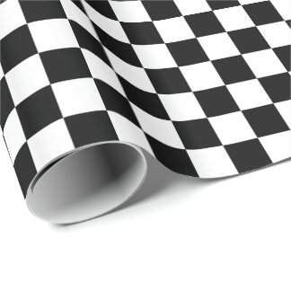 Black/White Checkered Wrapping Paper