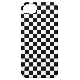 Black & White Chequerboard Background Case For The iPhone 5