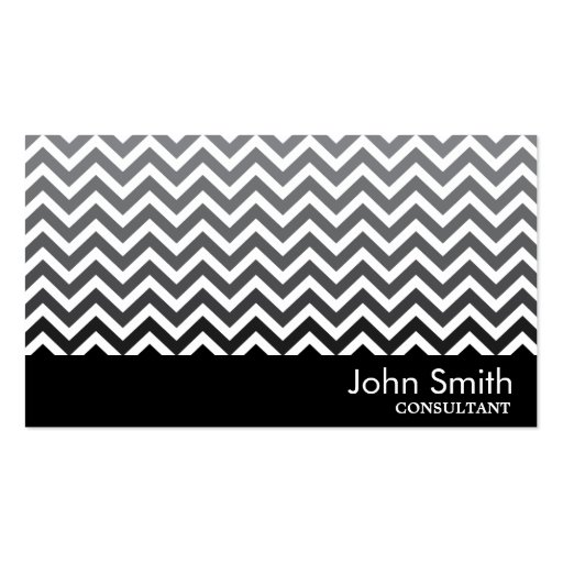 Black & White Chevron Consultant Business Card Business Card Templates