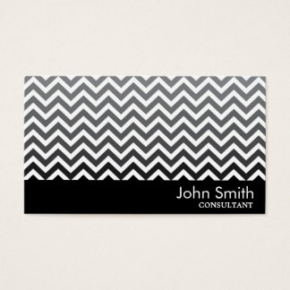 Black & White Chevron Consultant Business Card