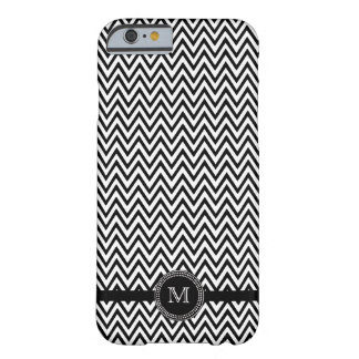 Black white chevron monogram iPhone 6 case Barely There iPhone 6 Case