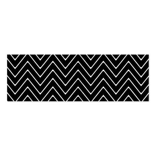 Black White Chevron Pattern Business Card Template