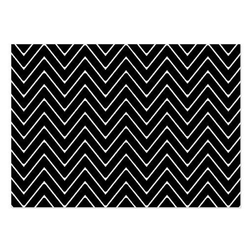 Black White Chevron Pattern Business Cards