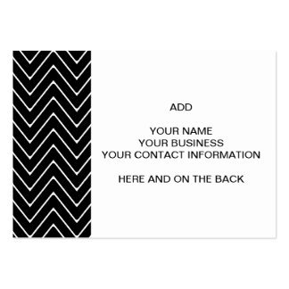 Black White Chevron Pattern Business Cards
