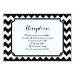 Black & White Chevron Pattern Reception Info Card Invitations