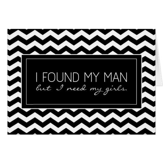 Black & White Chevron Striped Bridesmaid Request Card
