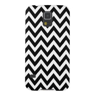 Black White Chevron Zigzag Stripes Galaxy S5 Covers