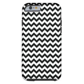 Black White Chevrons Tough iPhone 6 Case