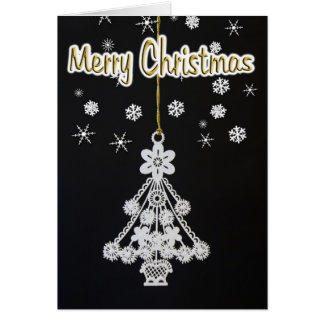 Black & White Christmas Card
