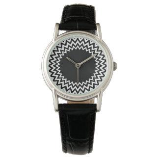 Black White Circle Chevron Watches