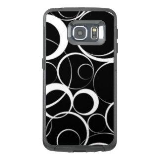 Black White Circles Pattern Print Design OtterBox Samsung Galaxy S6 Edge Case