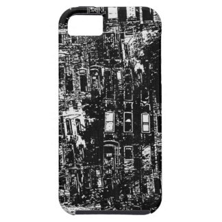 Black White City Building Window Collage Case For iPhone 5/5S