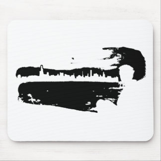 Black & White City Lookout - Mousepad