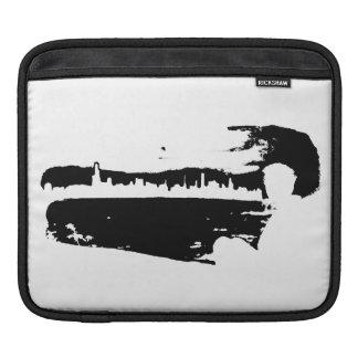 Black & White City Lookout - Tablet Sleeve iPad Sleeves