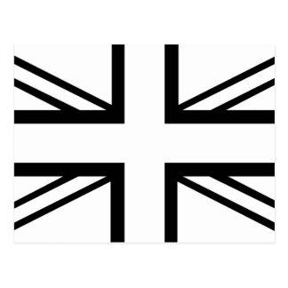 Black & White Classic Union Jack British(UK) Flag Postcard