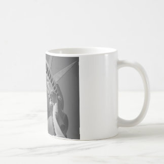 Black White Close-up Statue of Liberty Mugs