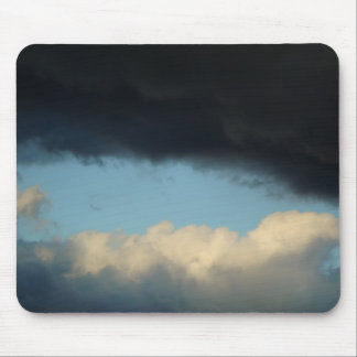 Black White Clouds Mouse Mat