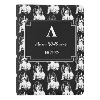 Black & White Cocker Spaniels Custom Notebook