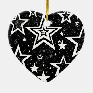BLACK & WHITE COLLECTION CERAMIC HEART DECORATION