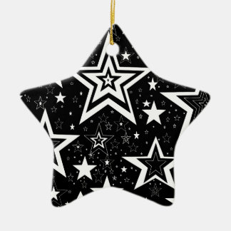 BLACK & WHITE COLLECTION CERAMIC STAR DECORATION