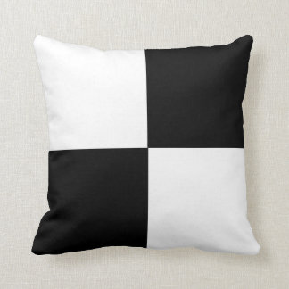 Black & White Color Block Cushion