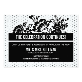Black & White Color Blocking Reception Card 9 Cm X 13 Cm Invitation Card