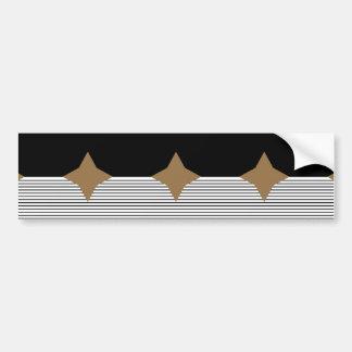 Black White Colorblock & Brown Diamond Bumper Sticker
