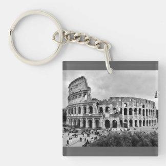 Black & White Colosseum Rome Keyring Keychain