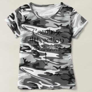 """Black & White """"Coming Attraction"""" Due Date & Arrow T-Shirt"""