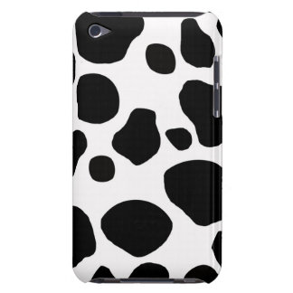 BLACK WHITE COW SPOTS ANIMAL  iPod TOUCH CASES