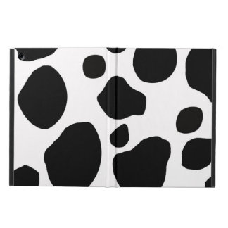 BLACK WHITE COW SPOTS ANIMAL PRINT COVER FOR iPad AIR