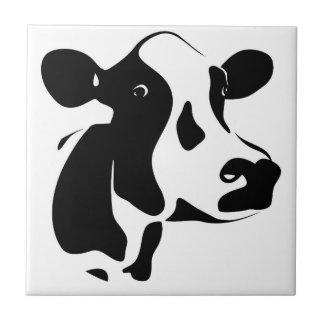 Black & White Cow Tile