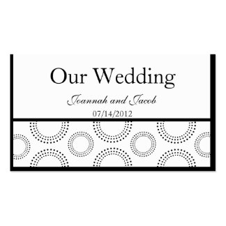 Black White Creative Circle Wedding Website Card Business Card Template